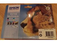 Genuine Epson T0715 Multipack Ink Cartridges