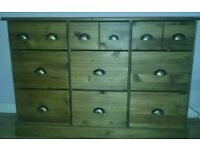 Oak drawer cabinet