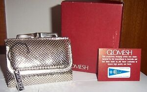 VINTAGE SILVER GLOMESH WALLET (brand new, rare to find style) Avondale Heights Moonee Valley Preview