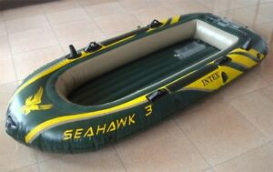 Intex Seahawk 3, 3-Person Inflatable Boat Set with Aluminum Oars