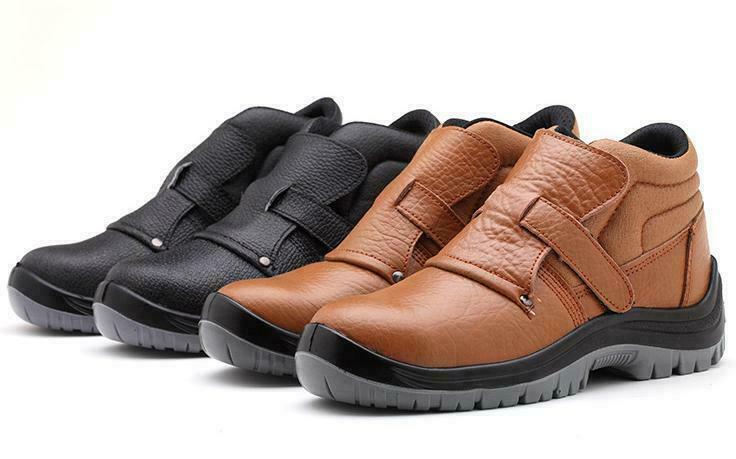 male pu leather shoes steel toe welding