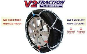 Snow Chains Diamond Pattern V2 Traction Size KB43/KB431 Wembley Downs Stirling Area Preview