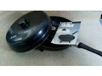 Multi cooker Skillet. Electric pan. Roast, fry, casserole. Camping cooker.VW