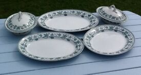 Enoch Wedgwood platters and covered veg' dishes