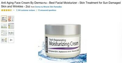 Anti Aging Face Cream By Derma-nu - Best Facial Moisturizer - Skin Treatment