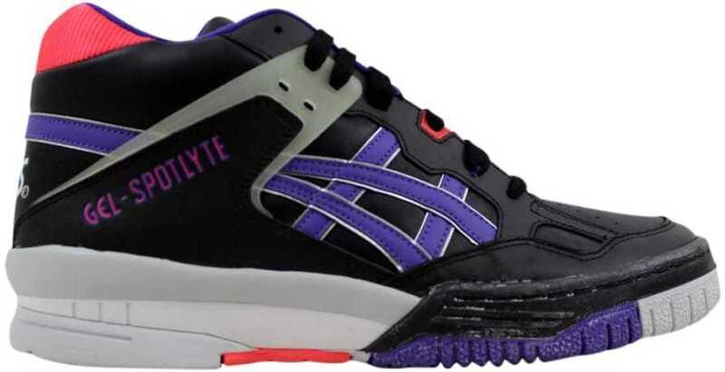 Asics Men's Gel-Spotlyte Black/Purple Basketball Shoe 8.5 Men US H419L-001