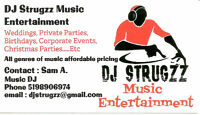 DJ Services (Dj Strugzz Entertainment) $500 Flat Rate