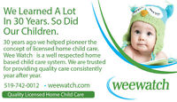 Child Care, Day Care, Licensed Home Day Care with Wee Watch