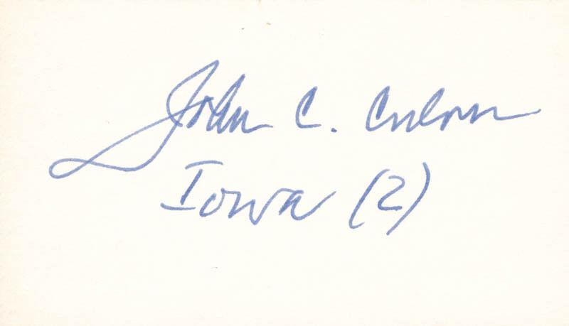 JOHN C. CULVER - SIGNATURE(S)