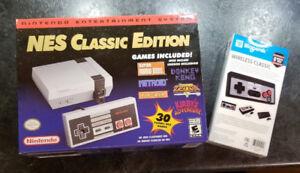 BNIB NES Classic Mini w bonus wireless controller