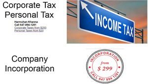 Corporate Taxes | Business Taxes | Personal Taxes |HST Returns