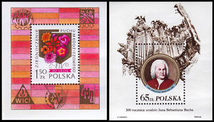 POLAND STAMP COLLECTION SOUVENIR SHEETS & STAMPS
