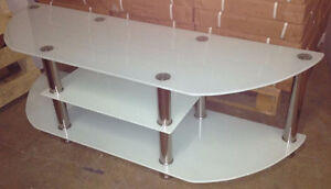 """TV STAND 55"""" tempered glass."""