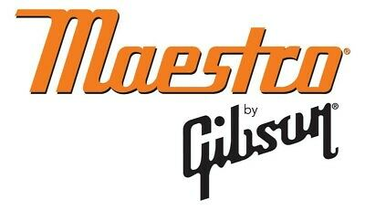 MAESTRO GIBSON ELECTRIC GUITAR Acoustic Guitar DECAL LOGO STICKER 130 mm x 70 mm ()