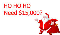 HO, HO, HO!! Santa has money to lend!!