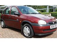 57,000 MILES / FULL MAIN AGENT HISTORY Vauxhall/Opel Corsa 1.2i 16v 2000MY Club