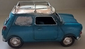 Vintage Austin Mini Metal Car Piggy Bank