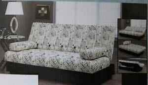 Sofa Bed Includes 2 side Pillows and bottom Storage  compartment