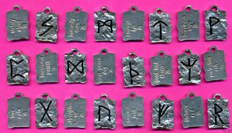 12 wholesale lead free pewter runes pendants set 5175