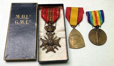 Lot de divers médailles militaires armée belge Belgique medal 213m70(3)