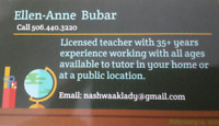 Experienced Tutor available