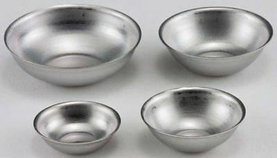 Dollhouse Miniature 1:12 Scale Set of 4 Aluminum Mixing Bowls
