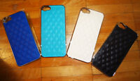 QUILTED LEATHER-LOOK/ CHROME FINISH IPHONE 5/ 5S BACK CASE