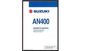 recherche manuel du proprietaire suzuki burgman 400 2010 +