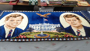 JFK & RFK Vintage Runner Rug - Like New Condition