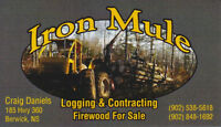 Iron Mule Logging, Quality Firewood for only $250 delivered
