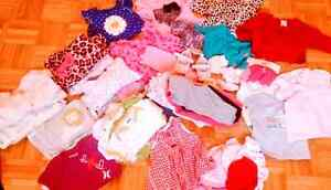 Lot of 0-3 girl clothing. 60 pieces.