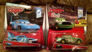 DISNEY CARS King Dinoco and Chick Hicks Piston Cup 1:55 New