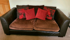 2 & 3 Seater Real Leather & Fabric Sofas