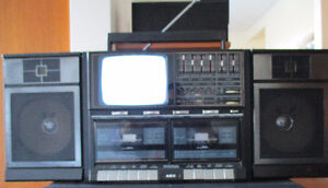 Portable Stereo with built in TV