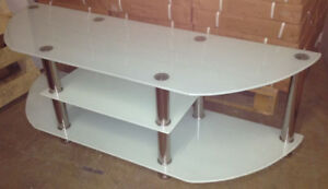 TV STAND 55 inches tempered glass,new in  box