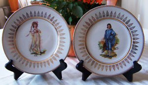 """""""Pinky"""" and """"Blue Boy"""" Wood & Sons 8 inch Collector Plate Set."""