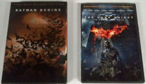 Batman Begins and Dark Knight DVD Movies - Both together for $5