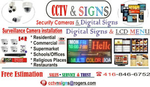 SECURITY CAMERA AND SIGNS ON SALE!!
