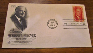 1965 Herbert Hoover 5 Cent First Day Cover Kitchener / Waterloo Kitchener Area image 2