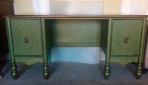 SOLID WOOD Antique Barristers Desk