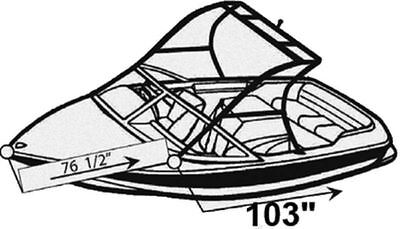 7oz BOAT COVER MB SPORTS 220 V W/ TOWER 2003-2009