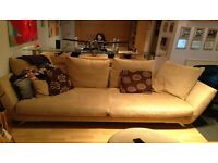 Sofa, Footstool & 2 Arm Chairs (Rocking & Reclining) in Great Condition