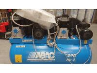 ABAC PRO A39 270 F3 (Tandem) Belt Driven Duo Air Compressor (6 HP 270 Litre 28 CFM) - Single Phase