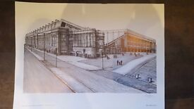 Ibrox Stadium Print, James Menzies Page, Limited edition of 950 prints