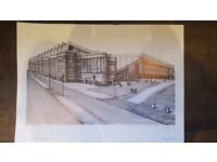 Ibrox Stadium Print, James Menzies Page, Limited edition of 950 prints