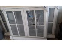 Window - Jeldwen, Unused - Cottage Bar softwood painted white - 1195w x 1045h