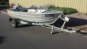 12' Alocraft tinny dinghy on trailer with 4.5hp Evinrude Modbury North Tea Tree Gully Area Preview