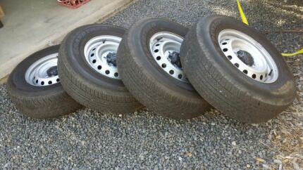 mazda bt50 4x 265/70/16 steel wheels with tyres Redcliffe Redcliffe Area Preview