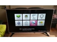 LG 43-inch, Full HD Ultra Slim LED, 1080p TV with Freeview HD and Freesat HD