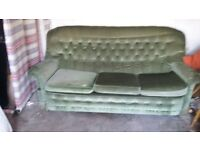 Sage Green 3 Seater Sofa, Free needs collecting by 27th July